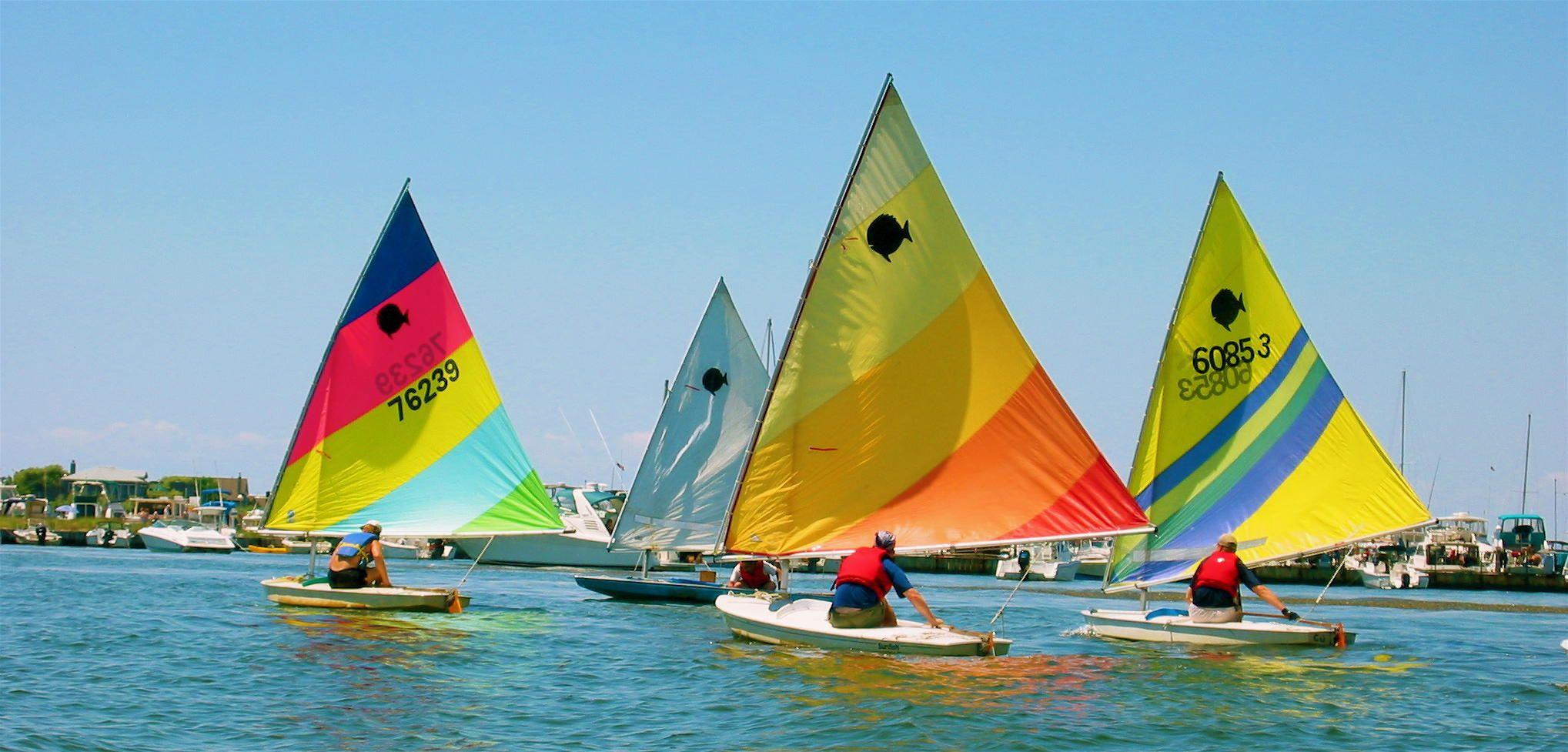 Image detail for -sunfish sailboats colorful ocean sailboats