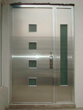 Puertas aluminio y vidrios albarran canceler a de for Puertas de aluminio para interiores de casas