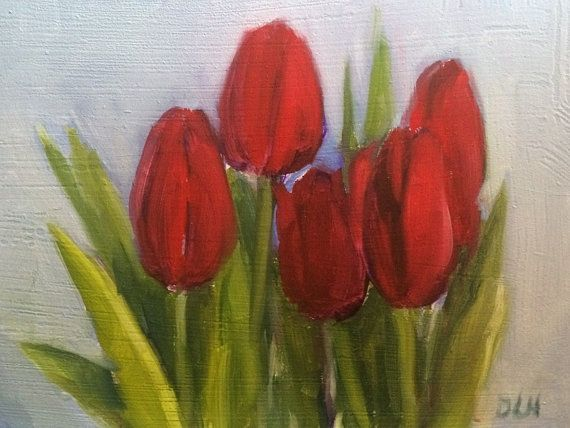 Original oil painting on gesso board panel 6 x 8 by DLHpaintings