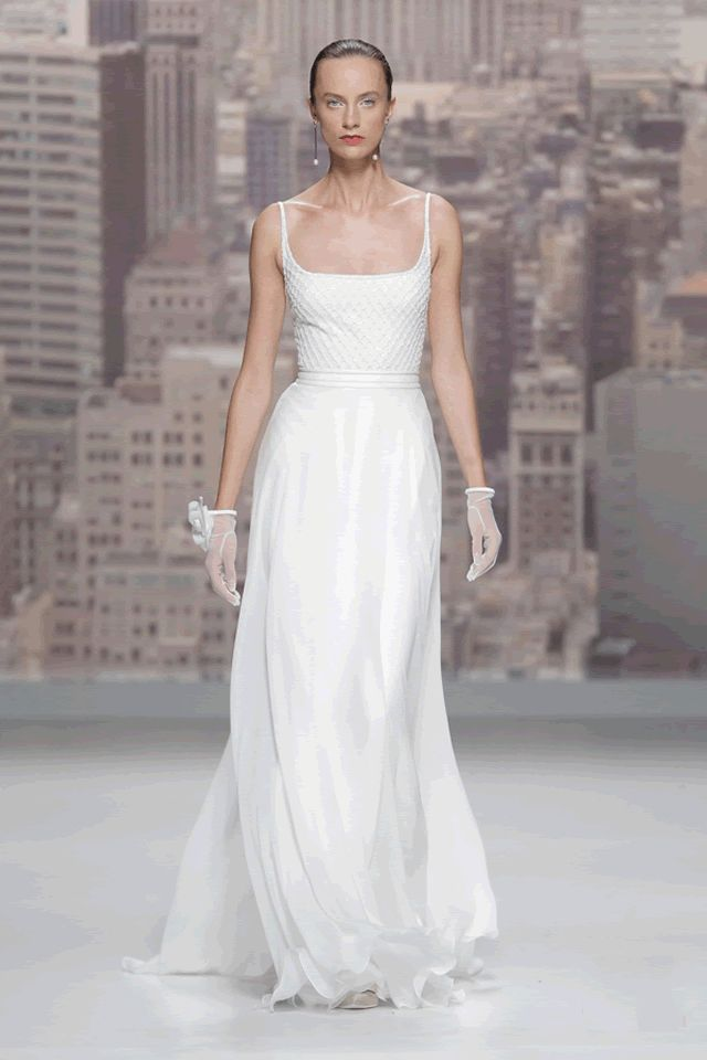 Barcelona Bridal Rosa Clara 2015 Collection...WOW, love the silhouette & fabric combinations. Get that designer look without the designer $$$, have it custom-made. Ask your dressmaker for suggestions that fit your wedding theme.