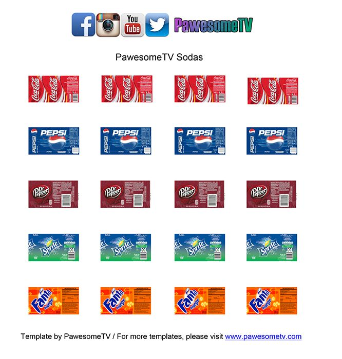 Diy Drinks Food Printables: DIY // LPS Soda