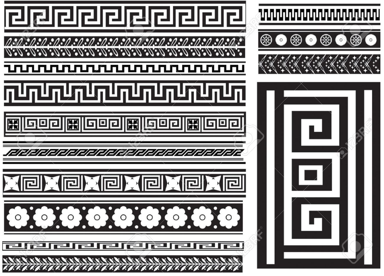 Greek key and others different types of seamless greek for Different design