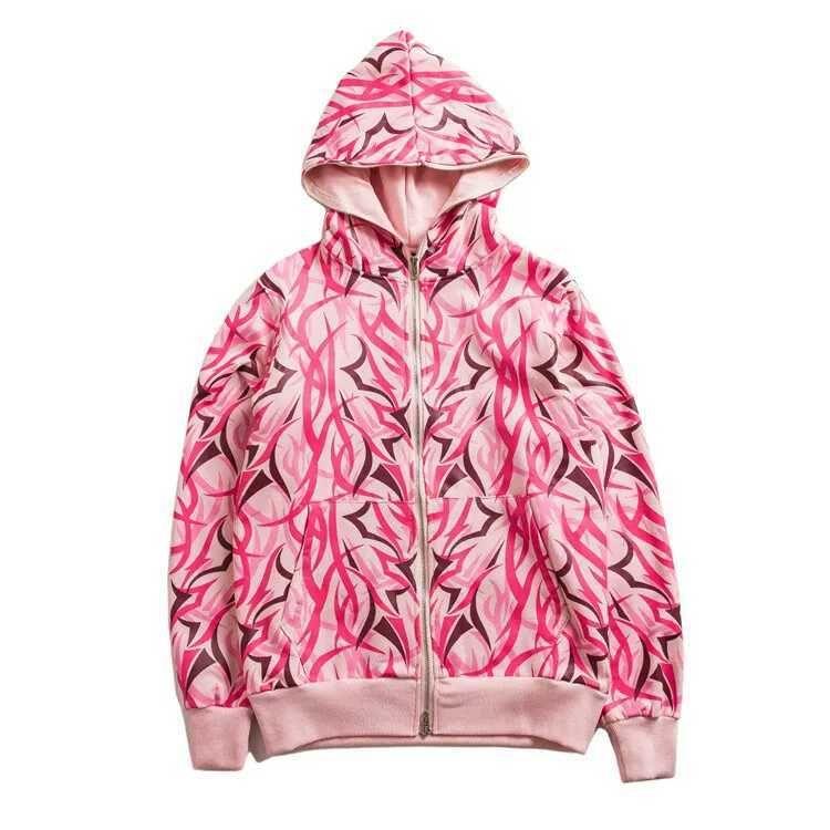 Indie Designs Pink Alienegra Zip-up Hoodie | Hoodies ...