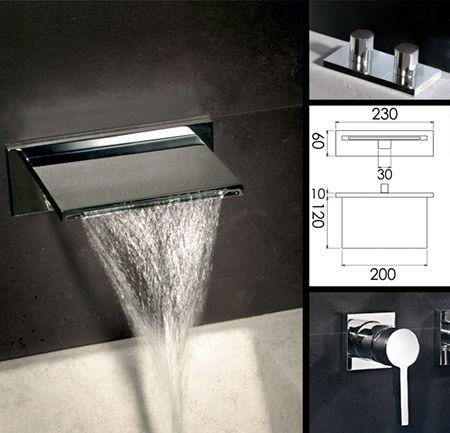Waterblade Waterfall Bath Mixer Tap 375a