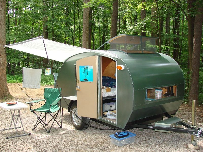 You Might Be Surprised At All The Things You Have To Think About When You Live Full Time In A Tin Tiny Camper Trailer Teardrop Trailer Camping Teardrop Trailer