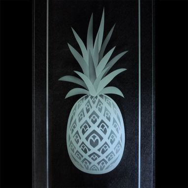 Pineapple Etched Glass Kitchen Cabinet Carved Doors Frosted Glass Design Glass Etching Glass Kitchen Cabinets
