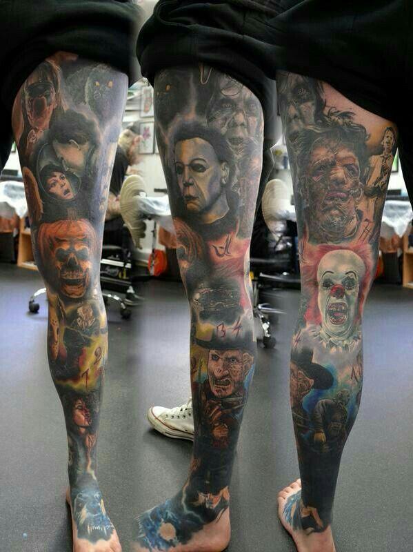 Tattoos By Amber Lunday Movie Tattoos Scary Tattoos Halloween Tattoos Sleeve