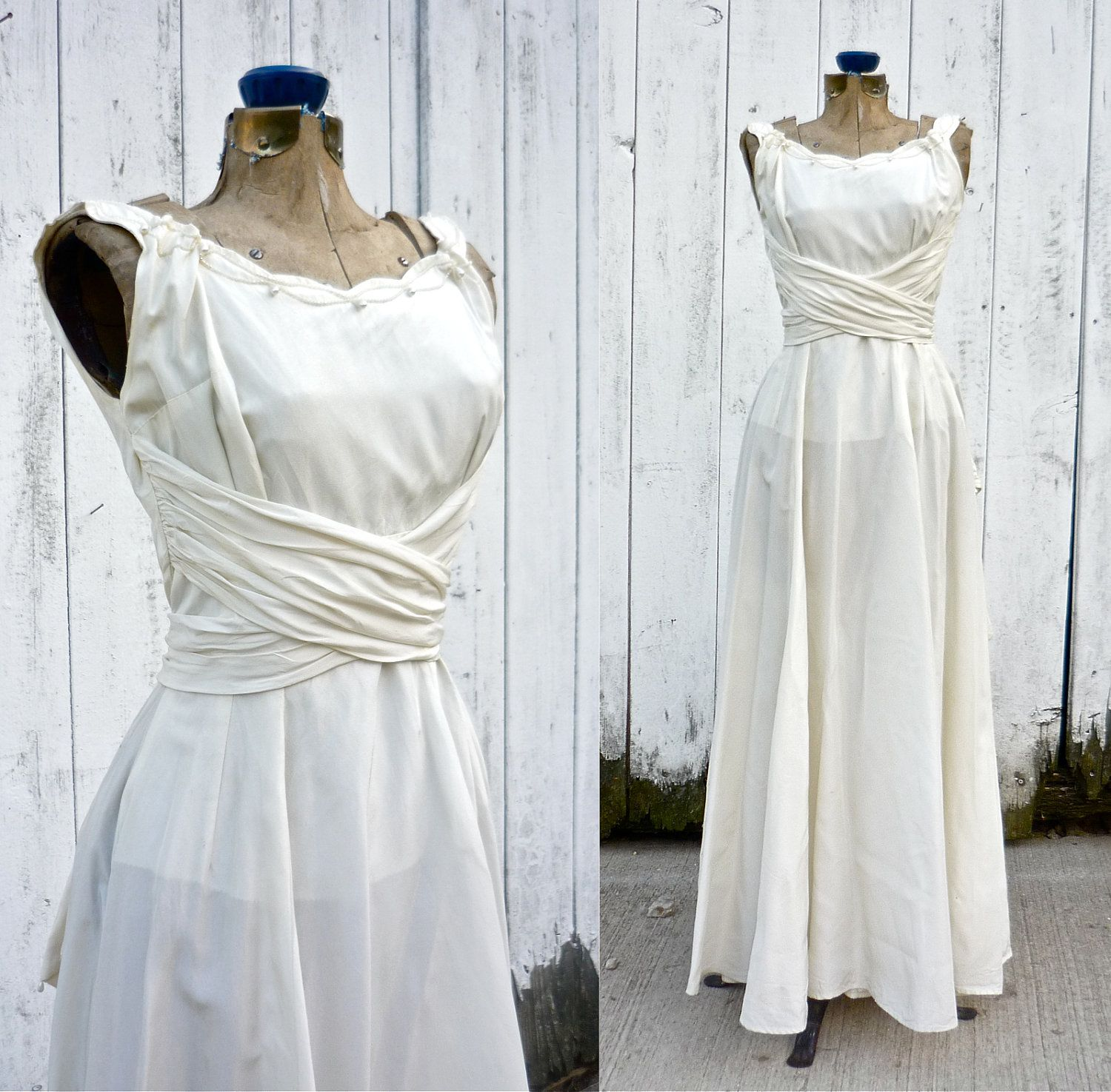 S wedding dress vintage s wedding gown by whitebarnvintage