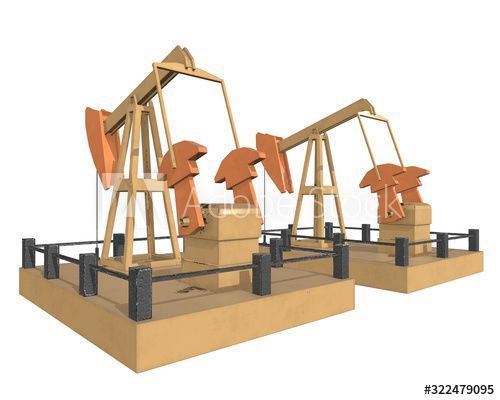 Oil well rig jack. Finance economy polygonal petrol production. Petroleum fuel industry pumpjack derricks pumping drilling. 3d render illustration isolated on white background. , #AFF, #petrol, #polygonal, #production, #fuel, #Petroleum #Ad