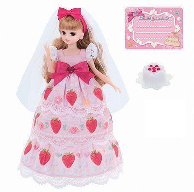 New-without-Box-Takara-Licca-9-034-Blythe-Doll-Strawberry-Birthday-Dress-w-Body
