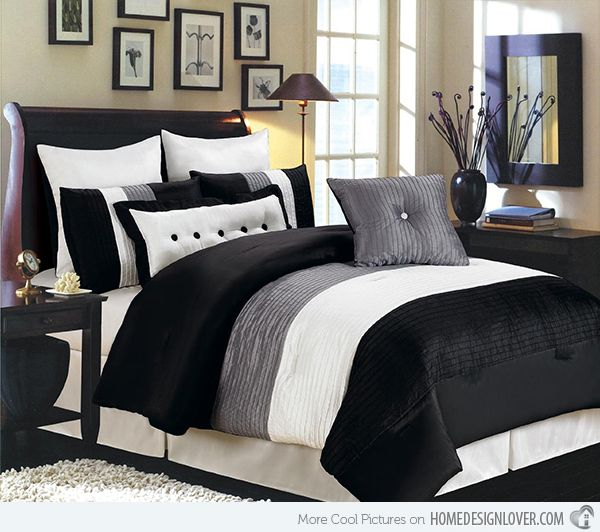 15 Black And White Bedding Sets Home Design Lover White Bed Set Home Bed Linens Luxury
