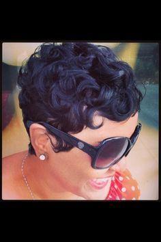 Liketheriversalon Atl B Black Hair Cut Shortcuts Pin Curls