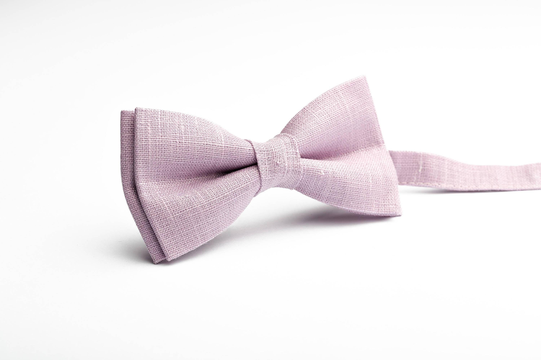 ff5295872f71 Pale purple bow tie, Purple tie for wedding, linen tie, Thistle tie ...