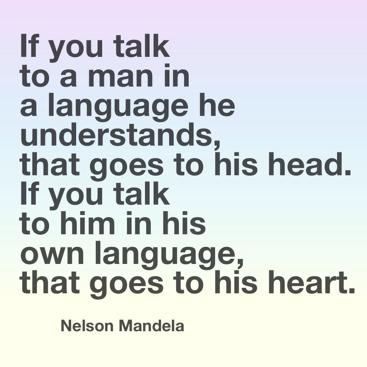 Image result for mandela language quote