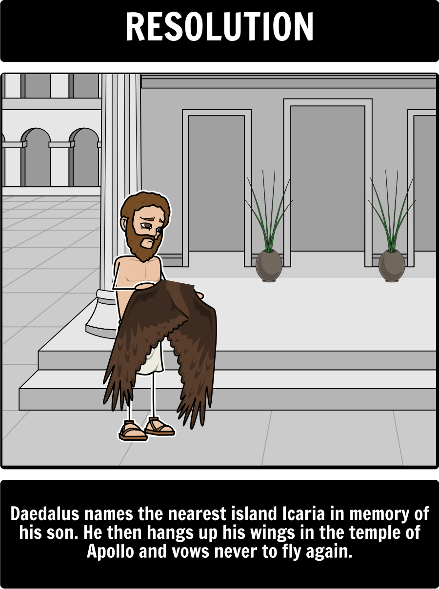 Icarus And Daedalus A Common Use For Storyboard That Is To Help Students Create A Plot Diagram Of The E Greek Mythology Characters Icarus Daedalus And Icarus