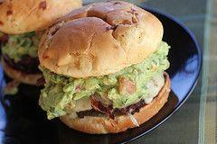 holy guacamole. look at that burger.