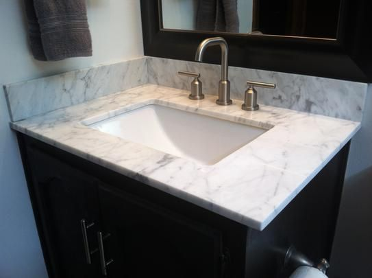 W Marble Vanity Top In Carrara With Trough Sink And 8 In. Faucet Spread,  26108 At The Home Depot   Mobile