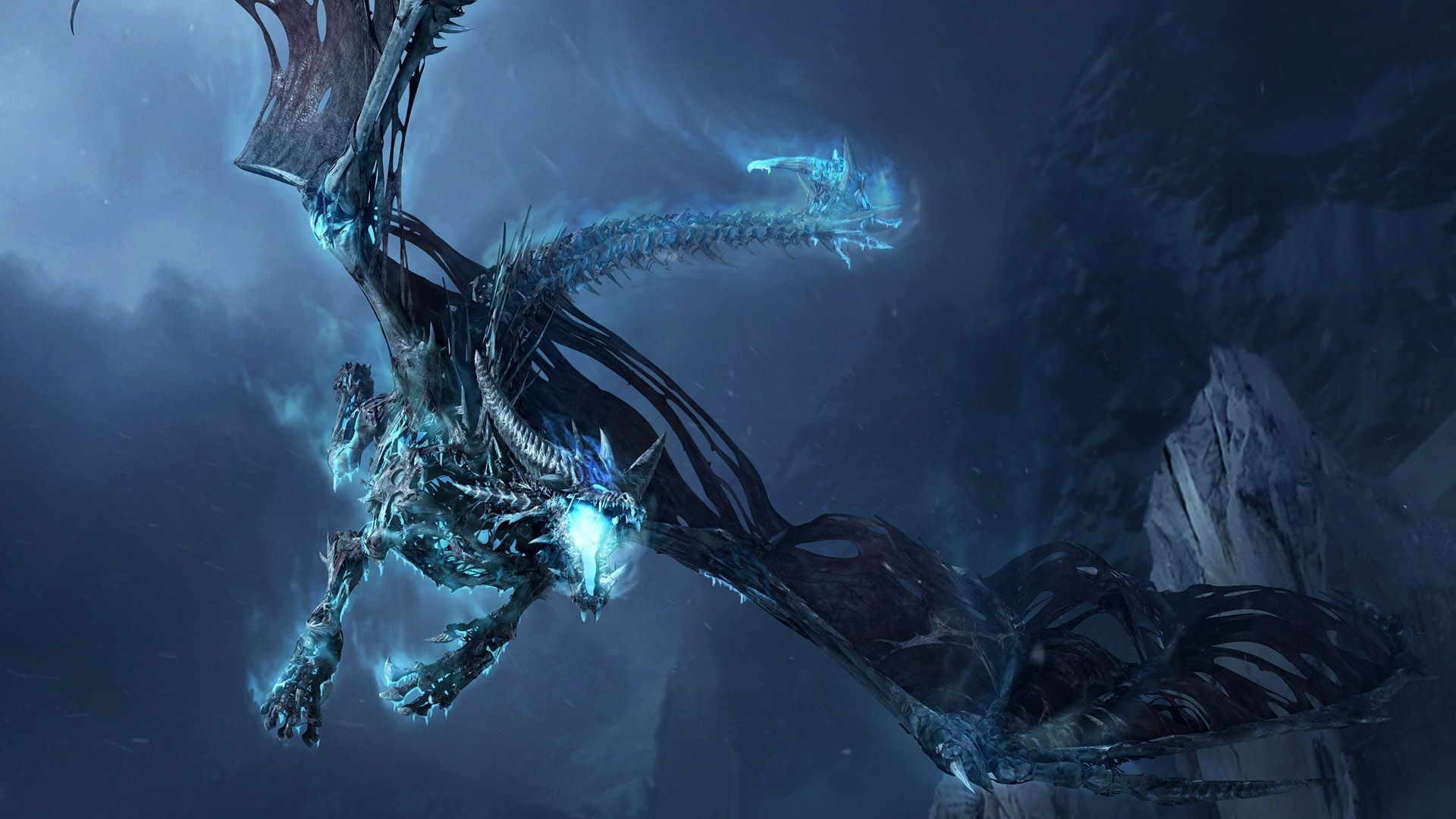 1920x1080 Wallpaper World Of Warcraft Dragon Cold