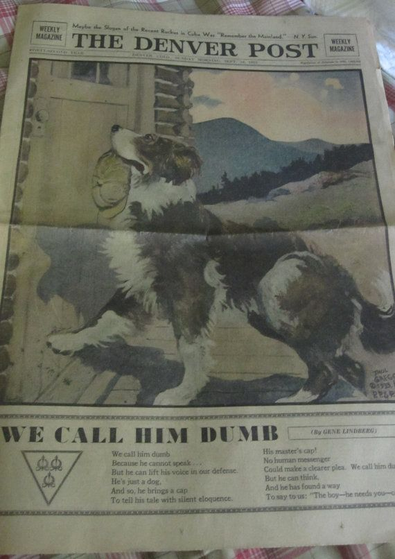 Antique Newspaper / 1933 Denver Post Weekly by Folkaltered on Etsy, $20.00