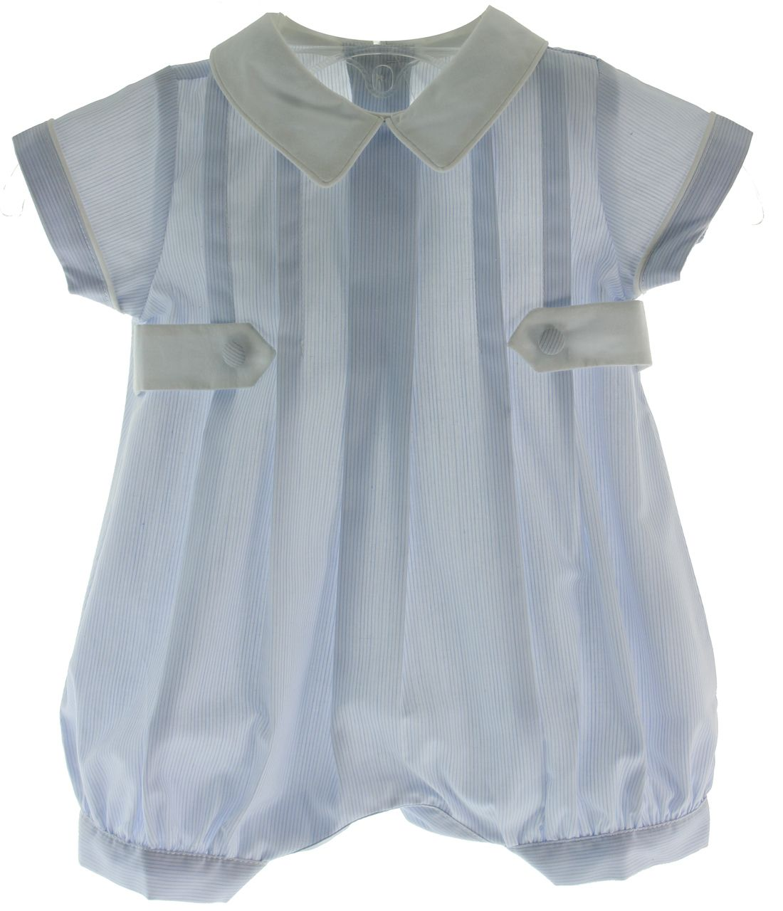 Baby Boys Blue Dressy Dedication Outfit with Side Tabs & Collar ...