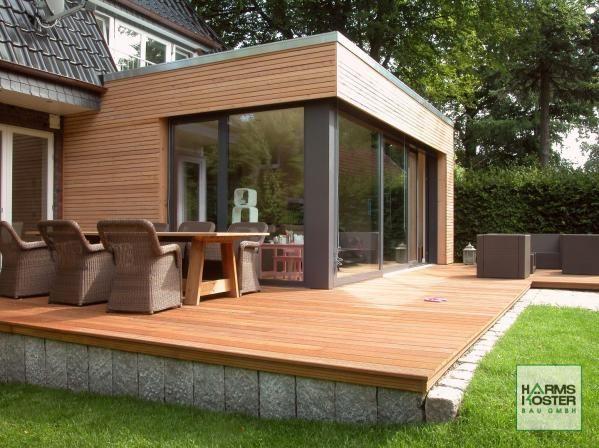 terrasse garten holz dielenboden outdoor küche überdachung - outdoor küche holz