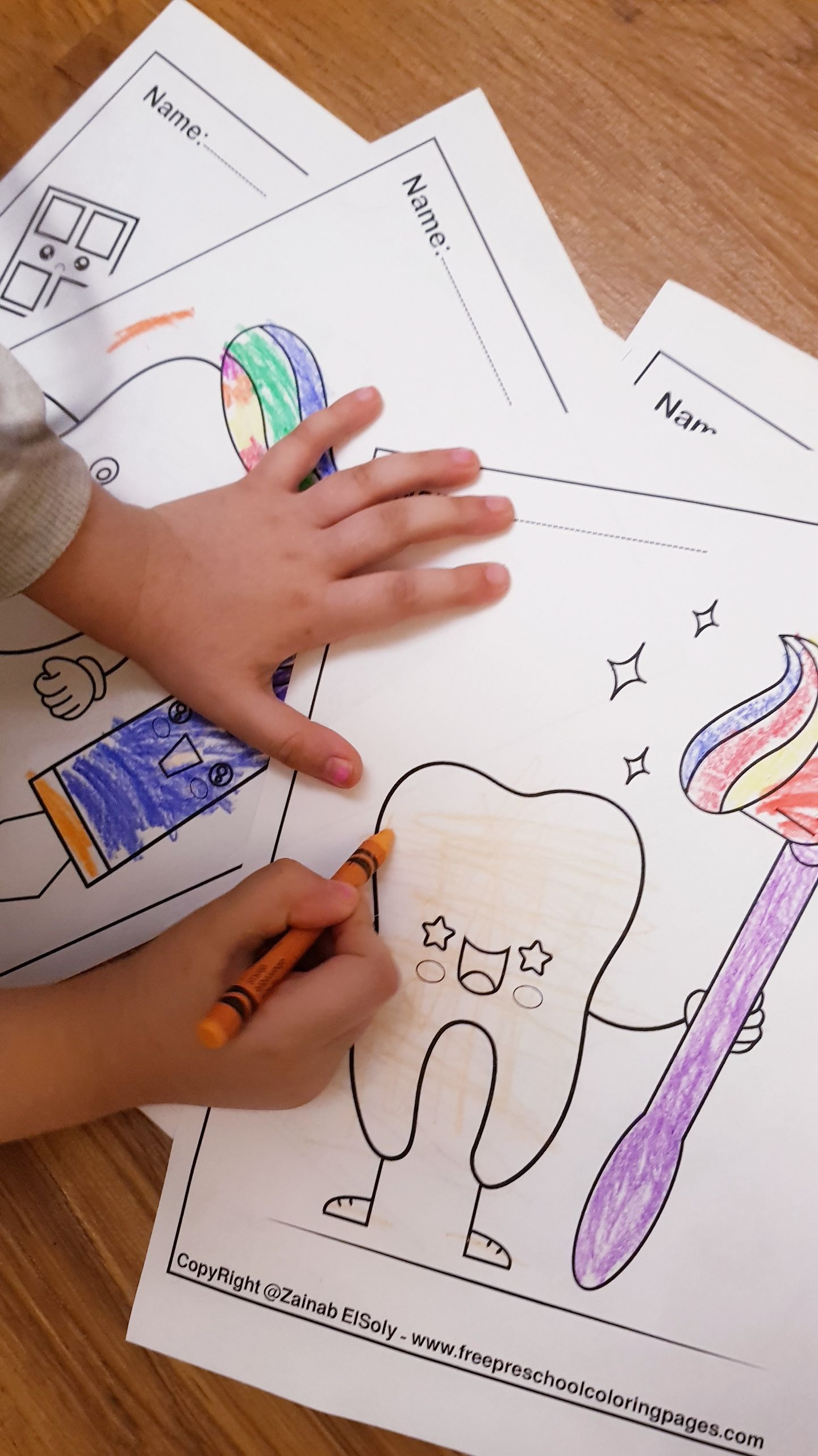 Free Dental Coloring Pages for Kids to Learn About the Dentist ... | 2560x1440