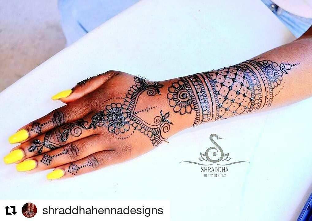 Henna Tattoo Montreal : Follow hennafamily repost shraddhahennadesigns