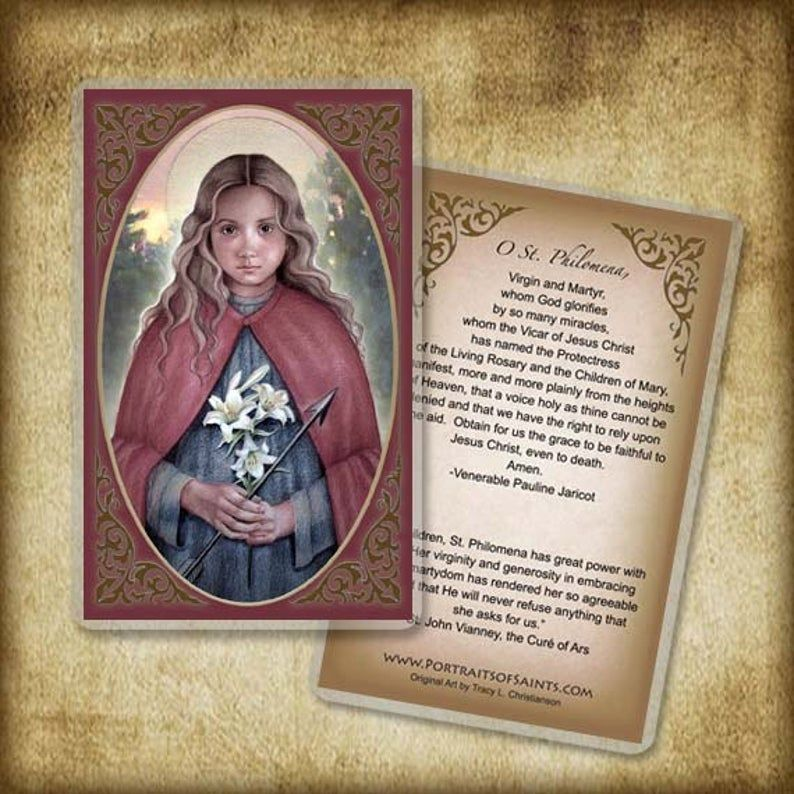 St. Philomena Prayer Card Patron of Children | Etsy | Holy