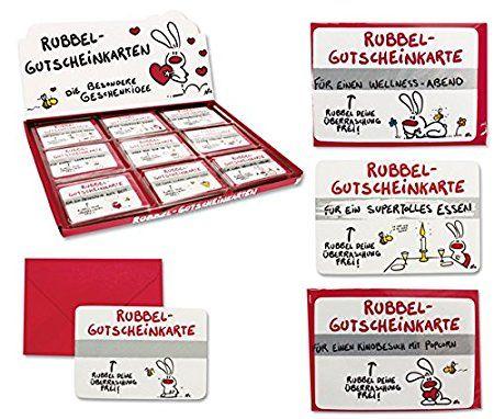 9 x Gutscheine Rubbelkarte Gutscheinkarte NIC Liebe