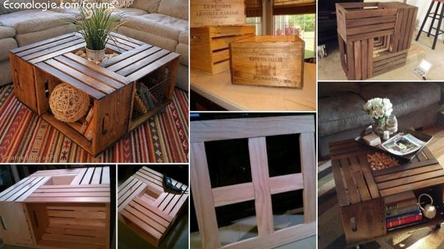 Idées éco deco avec récuperation de palettes de bois