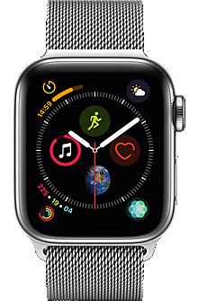 Apple Watch Series 4 Stainless Steel 40mm Case With Milanese Loop Apple Watch Apple Watch Series Buy Apple Watch