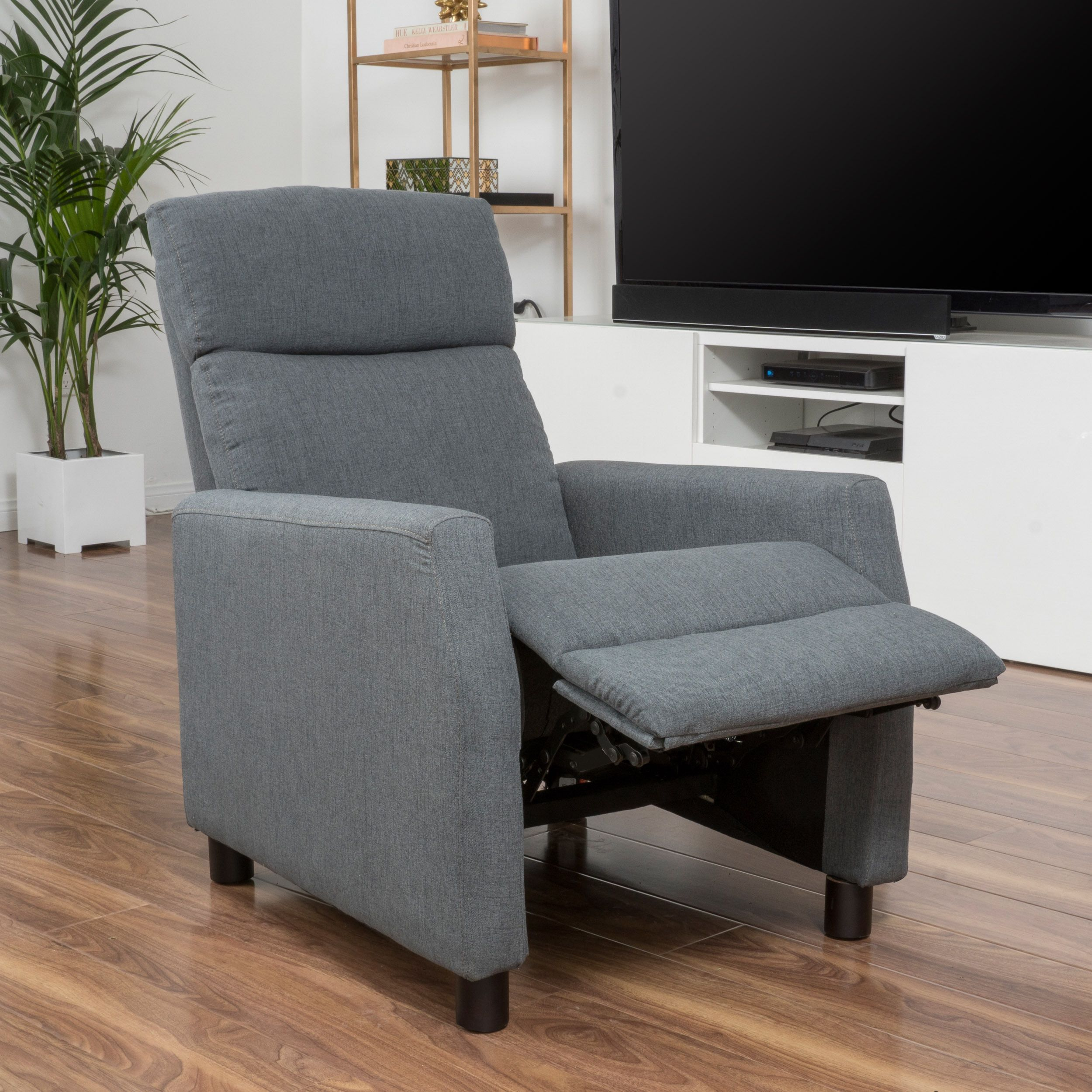 Tabahri Fabric Recliner Club Chair By Christopher Knight