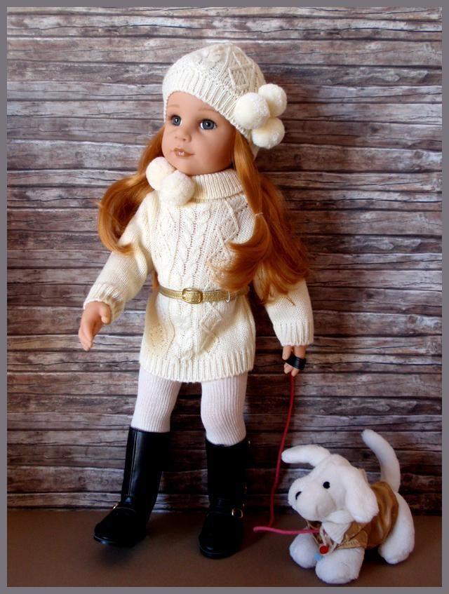 Poup es gotz la s rie des sarah hannah et son chien panenky poup es gotz poup e a - Barbie et son chien ...