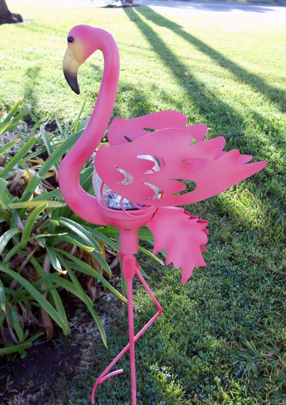 An All Time Favorite Pink Flamingo Lawn Decoration Done Right In Our Famous Garden Stake