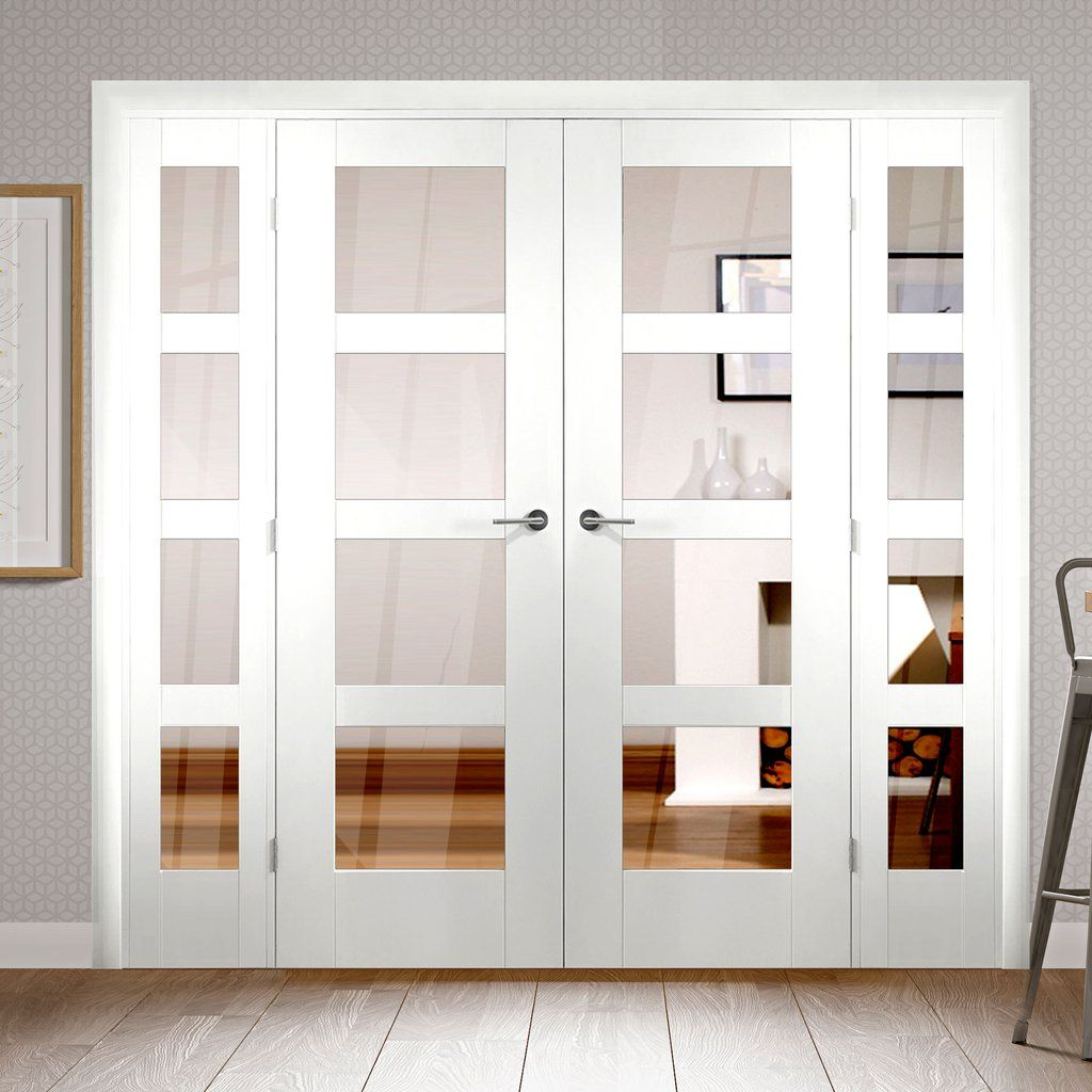 EasiFrame White Door Set  GWPSHA4LCOEOP1  2005mm Height  1910mm Wide  is part of information-technology - Easiframe GWPSHA4LCOEOP1 Shaker white door pair and frame room dividers are easy to fit