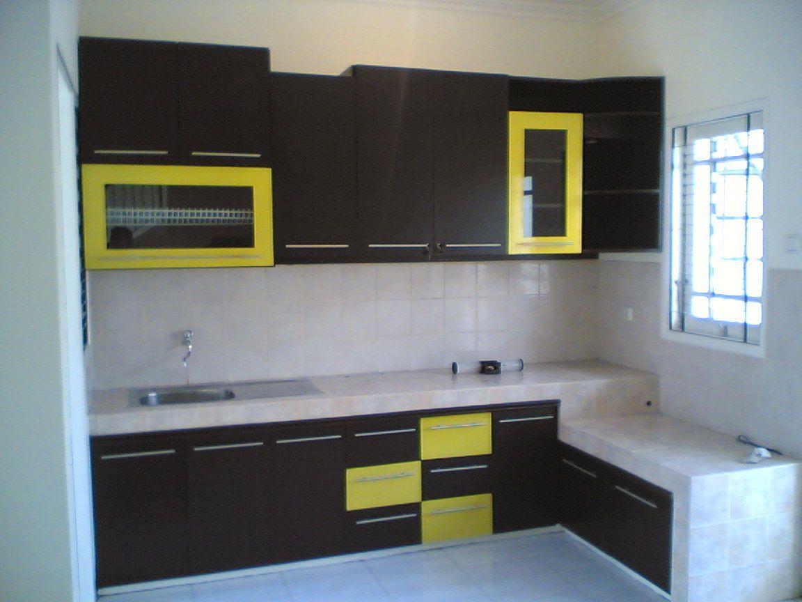 Desain dekorasi ruang dapur minimalis terpopuler gambar for Kitchen set minimalis modern