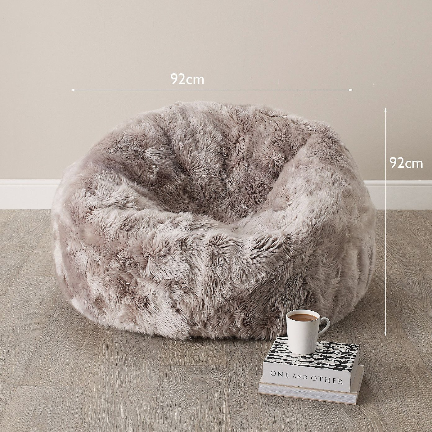 Long Haired Real Sheepskin Beanbag The White Company
