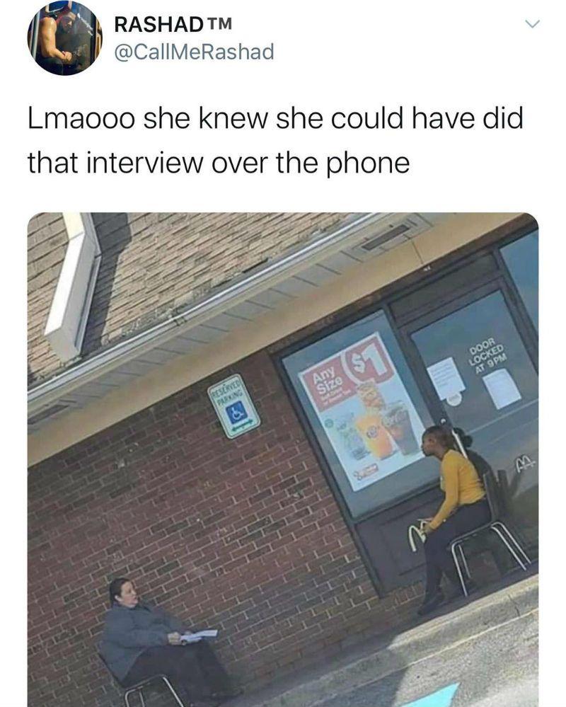Social Distancing Job Interview Meme in 2020 Job