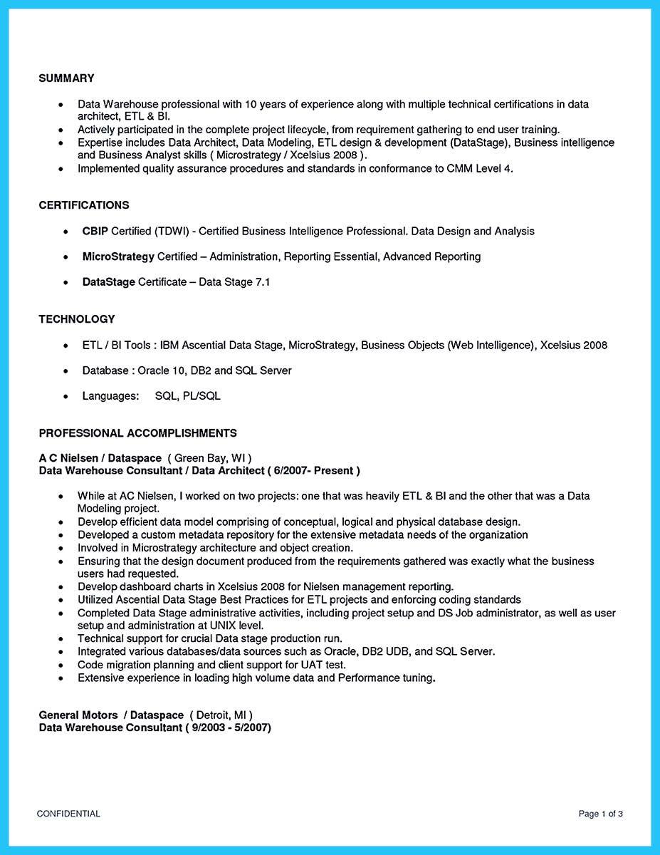 Nice Incredible Formula To Make Interesting Business Intelligence Resume Business Intelligence Cover Letter For Resume Cover Letter