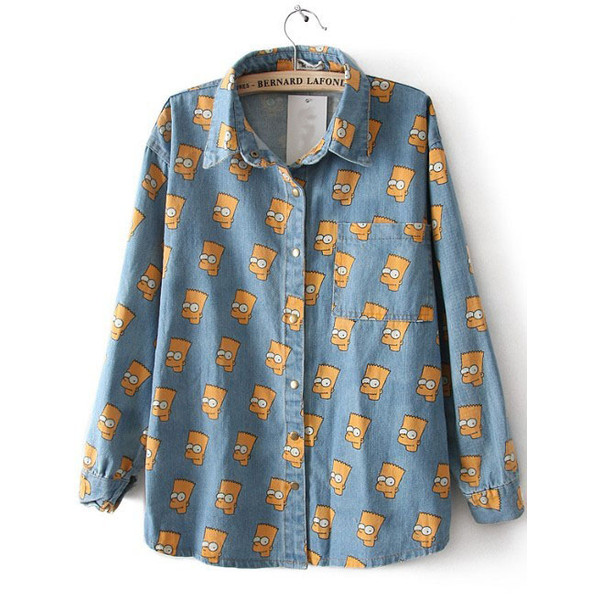 Bart Simpson Button Up May 2017