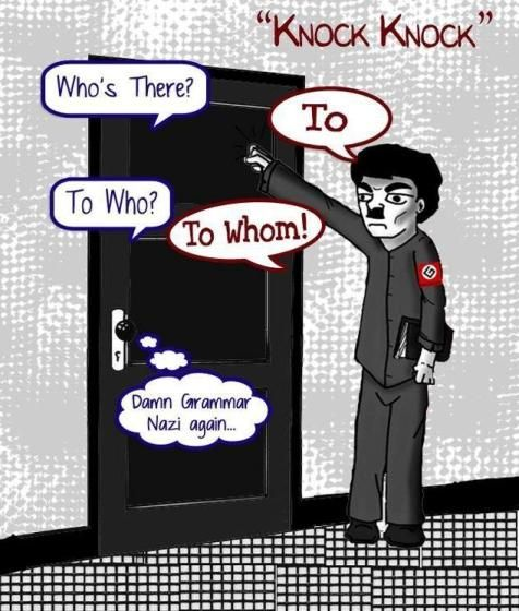 My Favorite Knock Knock Joke Ever Grammar Grammar Grammar
