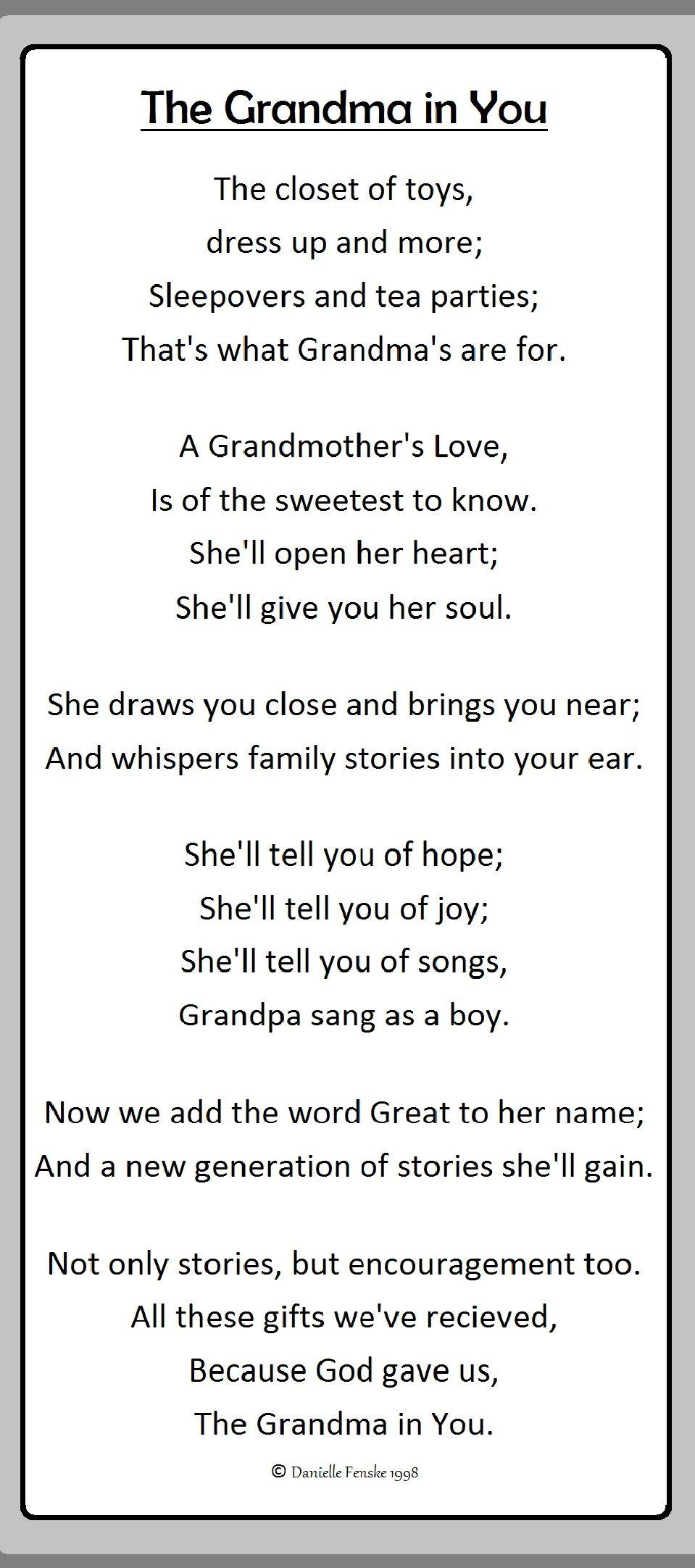my grandmother poem