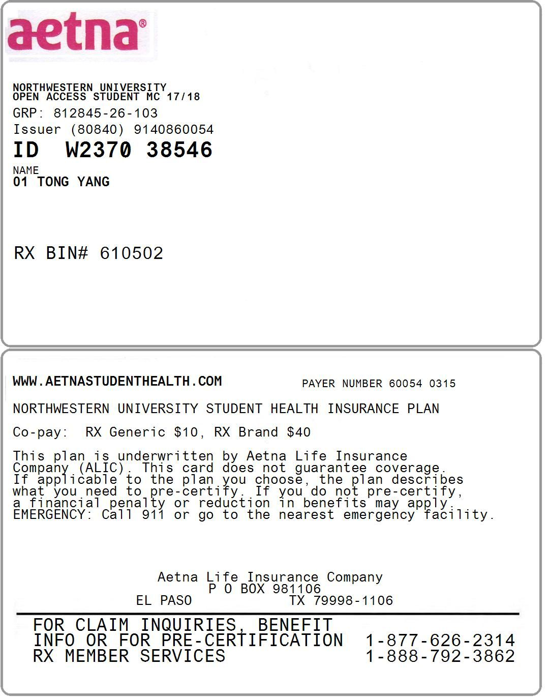 Id Card Students Health Health Insurance Plans Student Health