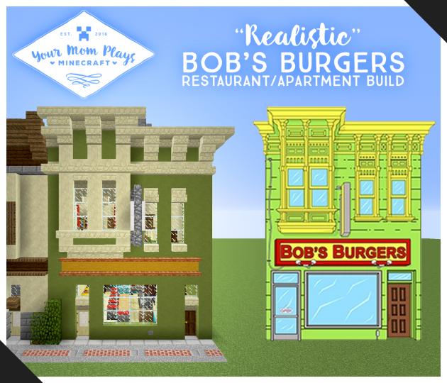 Bob S Burgers Bobs Burgers Minecraft Restaurant Minecraft Projects