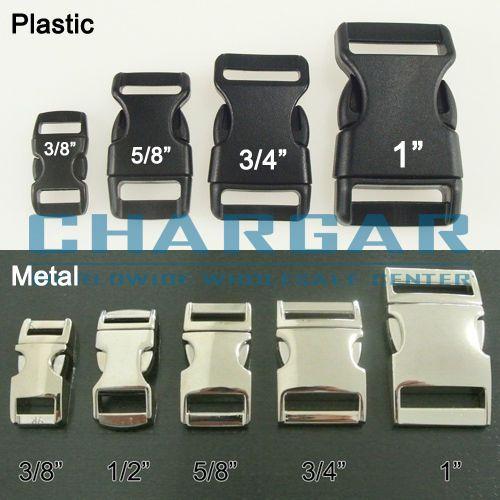 "3//4/"" Black Contoured Side Release Buckles For Paracord Bracelets Pets Collar"