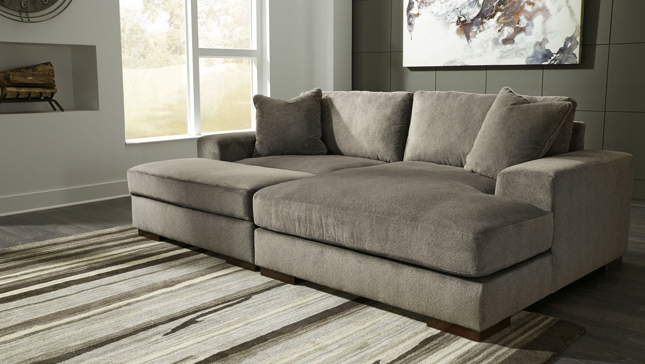 Manzani Gray Raf Sectional Furniture Types Of Sofas