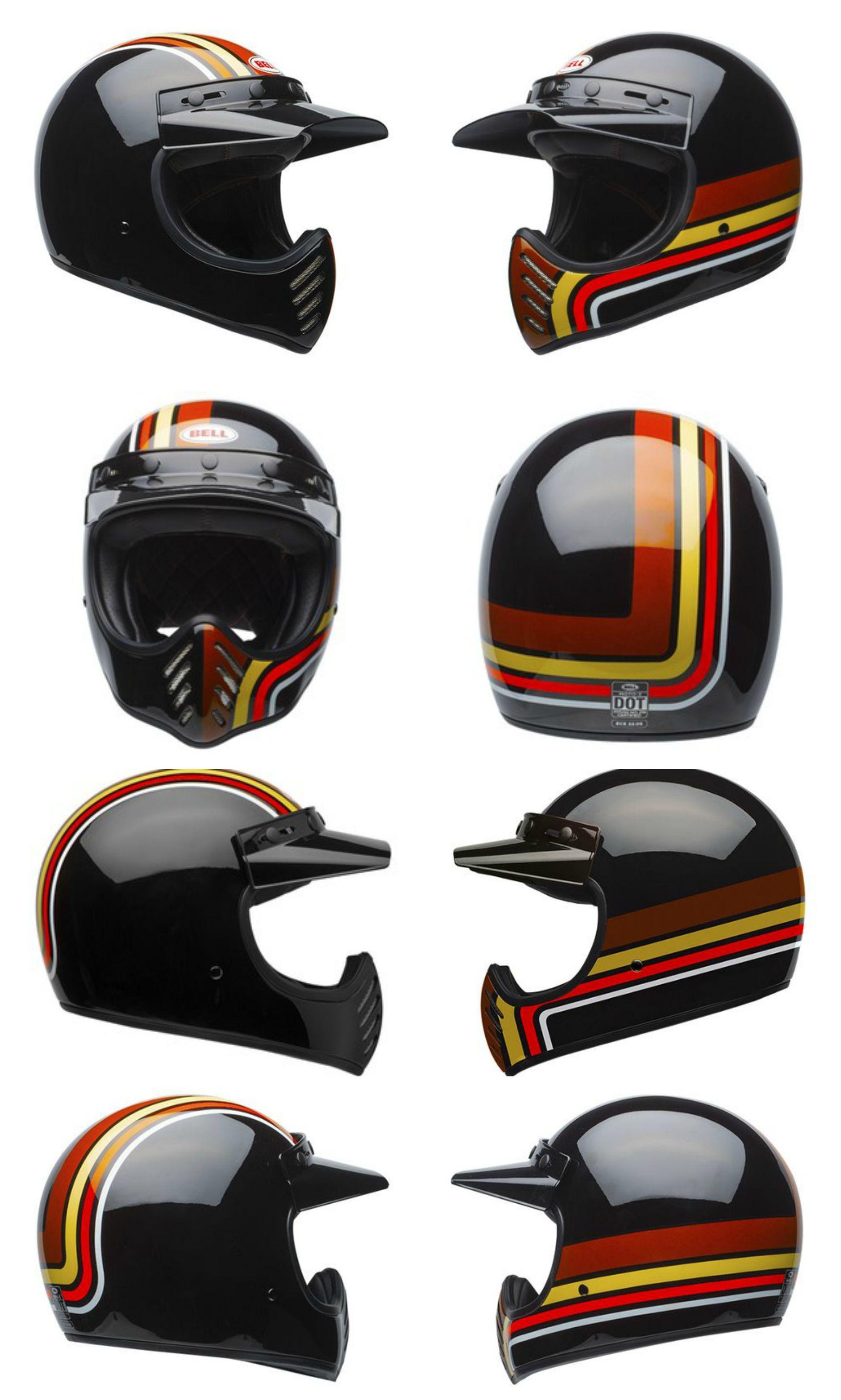 fbaa8186 Bell Stripes Adult Moto-3 Off-Road Motorcycle Helmet Review ...
