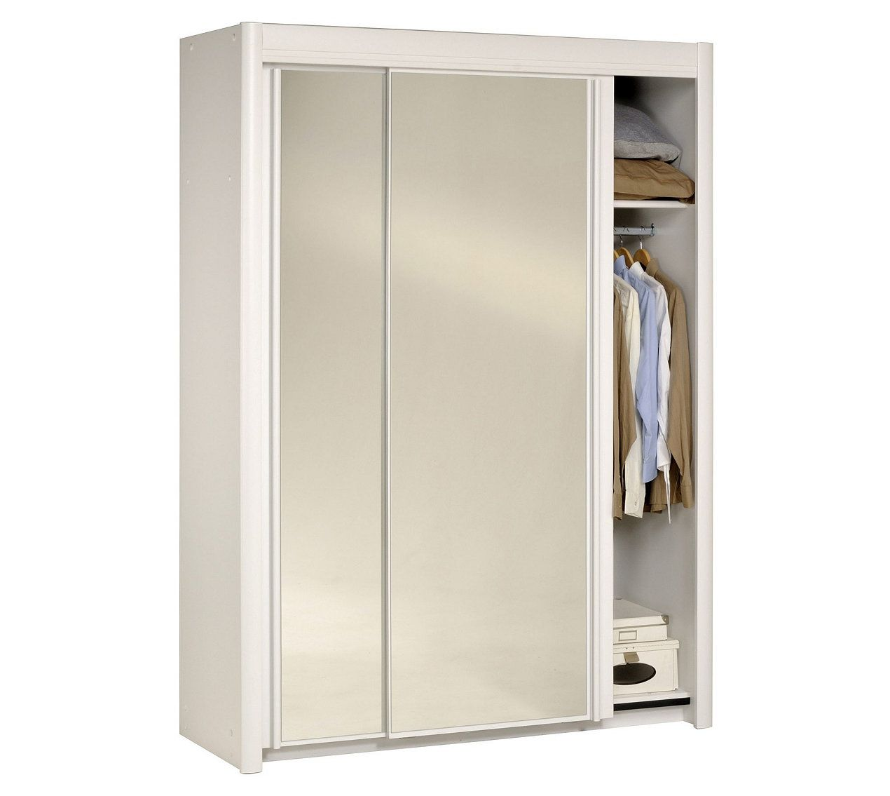 Armoire L.156 cm CARLA 2 4973R161 Blanc - Armoires BUT | ma chambre ...