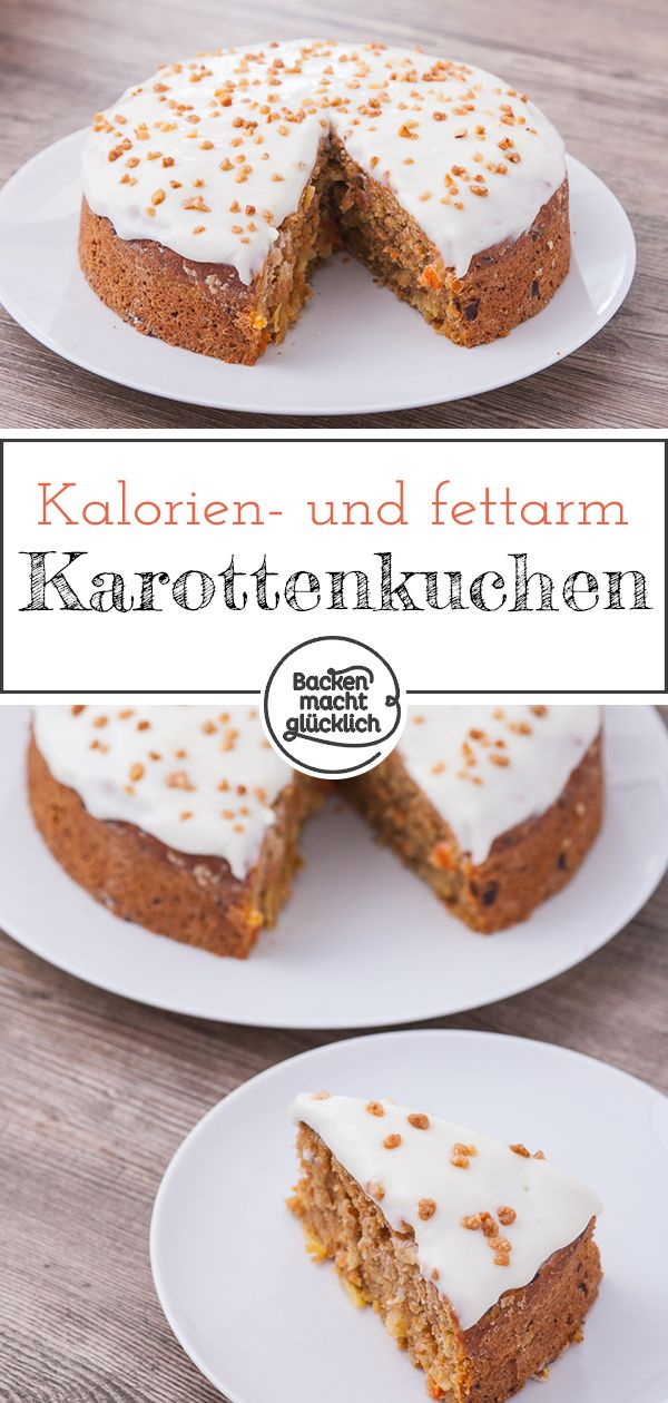Saftiger gesunder Karottenkuchen | Backen macht glücklich #süßesbacken