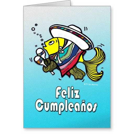 FELIZ CUMPLEANOS Mexican Fish Funny Birthday Card